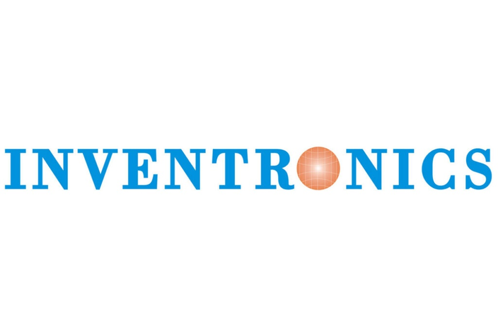 Blue Inventronics company logo for page about technology partners
